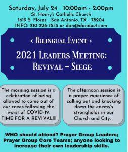 July 24 Leaders Revival Siege 2021